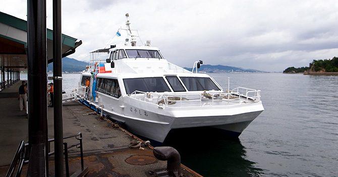 宮島へ行くなら、ちょっと高いけど広電+高速船もおすすめ!